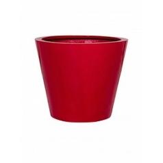 Кашпо Pottery Pots Fiberstone glossy red, красного цвета bucket S размер  Диаметр — 49 см