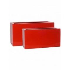 Кашпо Pottery Pots Fiberstone glossy red, красного цвета jort (2) Длина — 100 см
