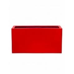 Кашпо Pottery Pots Fiberstone glossy red, красного цвета jort M размер Длина — 100 см