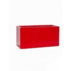 Кашпо Pottery Pots Fiberstone glossy red, красного цвета rectangular balcony XS размер Длина — 40 см