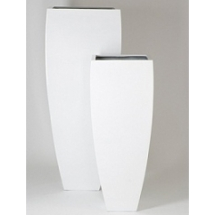 Кашпо Pottery Pots Fiberstone glossy white, белого цвета ace (3) Длина — 60 см
