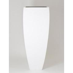 Кашпо Pottery Pots Fiberstone glossy white, белого цвета ace Длина — 60 см