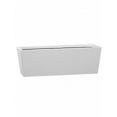 Кашпо Pottery Pots Fiberstone glossy white, белого цвета balcony beau M размер Длина — 60 см