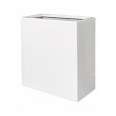 Кашпо Pottery Pots Fiberstone glossy white, белого цвета balcony high XS размер Длина — 40 см
