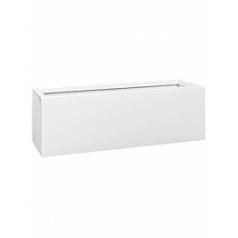 Кашпо Pottery Pots Fiberstone glossy white, белого цвета balcony M размер Длина — 60 см