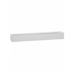 Кашпо Pottery Pots Fiberstone glossy white, белого цвета balcony slim low L размер Длина — 70 см