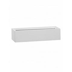 Кашпо Pottery Pots Fiberstone glossy white, белого цвета balcony slim low l40 Длина — 40 см