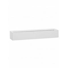 Кашпо Pottery Pots Fiberstone glossy white, белого цвета balcony slim low M размер Длина — 60 см