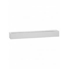 Кашпо Pottery Pots Fiberstone glossy white, белого цвета balcony slim low XL размер Длина — 80 см