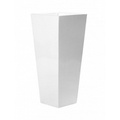 Кашпо Pottery Pots Fiberstone glossy white, белого цвета beau Длина — 43 см