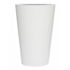 Кашпо Pottery Pots Fiberstone glossy white, белого цвета belle L размер  Диаметр — 60 см
