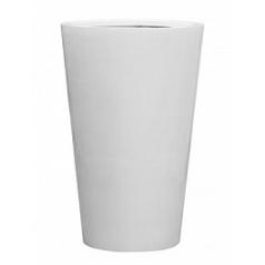 Кашпо Pottery Pots Fiberstone glossy white, белого цвета belle XL размер  Диаметр — 77 см