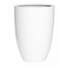 Кашпо Pottery Pots Fiberstone glossy white, белого цвета ben L размер  Диаметр — 40 см