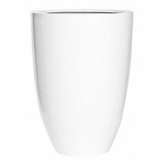 Кашпо Pottery Pots Fiberstone glossy white, белого цвета ben XL размер  Диаметр — 52 см