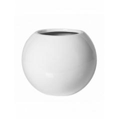 Кашпо Pottery Pots Fiberstone glossy white, белого цвета beth S размер  Диаметр — 31 см
