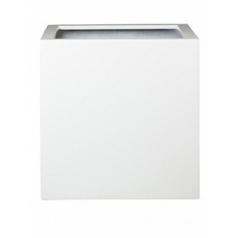 Кашпо Pottery Pots Fiberstone glossy white, белого цвета block L размер Длина — 50 см