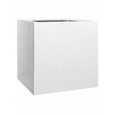 Кашпо Pottery Pots Fiberstone glossy white, белого цвета block XXL размер Длина — 70 см
