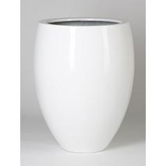 Кашпо Pottery Pots Fiberstone glossy white, белого цвета bond L размер  Диаметр — 68 см