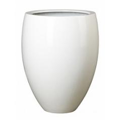 Кашпо Pottery Pots Fiberstone glossy white, белого цвета bond M размер  Диаметр — 485 см