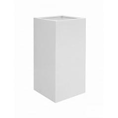 Кашпо Pottery Pots Fiberstone glossy white, белого цвета bouvy XL размер Длина — 50 см
