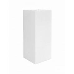 Кашпо Pottery Pots Fiberstone glossy white, белого цвета bouvy XXL размер Длина — 50 см