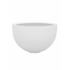 Кашпо Pottery Pots Fiberstone glossy white, белого цвета bowl L размер  Диаметр — 60 см