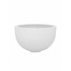 Кашпо Pottery Pots Fiberstone glossy white, белого цвета bowl M размер  Диаметр — 45 см