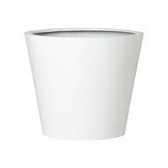 Кашпо Pottery Pots Fiberstone glossy white, белого цвета bucket XS размер  Диаметр — 40 см