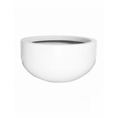 Кашпо Pottery Pots Fiberstone glossy white, белого цвета city bowl L размер  Диаметр — 128 см