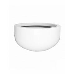 Кашпо Pottery Pots Fiberstone glossy white, белого цвета city bowl S размер  Диаметр — 92 см