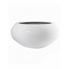 Кашпо Pottery Pots Fiberstone glossy white, белого цвета cora S размер  Диаметр — 47 см