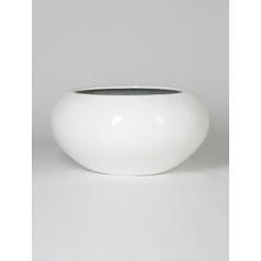 Кашпо Pottery Pots Fiberstone glossy white, белого цвета cora  Диаметр — 72 см