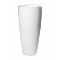 Кашпо Pottery Pots Fiberstone glossy white, белого цвета dax L размер  Диаметр — 37 см