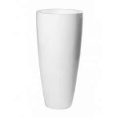 Кашпо Pottery Pots Fiberstone glossy white, белого цвета dax XL размер  Диаметр — 47 см