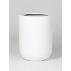 Кашпо Pottery Pots Fiberstone glossy white, белого цвета dice L размер  Диаметр — 34 см