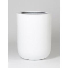 Кашпо Pottery Pots Fiberstone glossy white, белого цвета dice XL размер  Диаметр — 46 см
