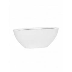 Кашпо Pottery Pots Fiberstone glossy white, белого цвета dorant S размер Длина — 43 см