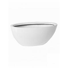 Кашпо Pottery Pots Fiberstone glossy white, белого цвета dorant XS размер Длина — 33 см