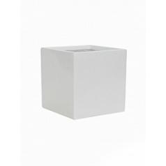 Кашпо Pottery Pots Fiberstone glossy white, белого цвета fleur L размер Длина — 25 см