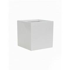 Кашпо Pottery Pots Fiberstone glossy white, белого цвета fleur S размер Длина — 15 см