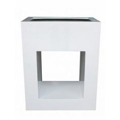 Кашпо Pottery Pots Fiberstone glossy white, белого цвета hole in one Длина — 80 см