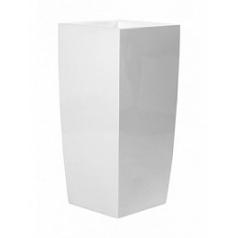 Кашпо Pottery Pots Fiberstone glossy white, белого цвета izy Длина — 38 см