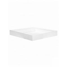 Кашпо Pottery Pots Fiberstone glossy white, белого цвета jack L размер Длина — 60 см