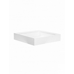 Кашпо Pottery Pots Fiberstone glossy white, белого цвета jack M размер Длина — 50 см
