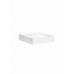 Кашпо Pottery Pots Fiberstone glossy white, белого цвета jack S размер Длина — 40 см