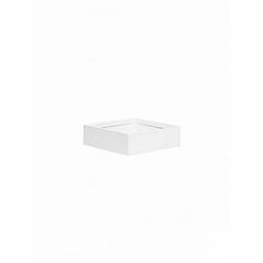 Кашпо Pottery Pots Fiberstone glossy white, белого цвета jack XS размер Длина — 30 см