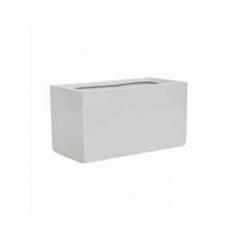 Кашпо Pottery Pots Fiberstone glossy white, белого цвета jort L размер Длина — 30 см
