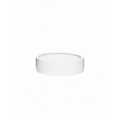 Кашпо Pottery Pots Fiberstone max low XS размер glossy white, белого цвета  Диаметр — 30 см