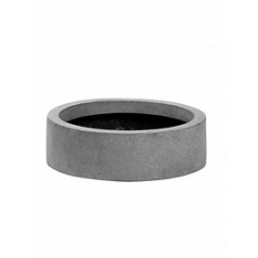 Кашпо Pottery Pots Fiberstone max low XS размер grey, серого цвета  Диаметр — 30 см