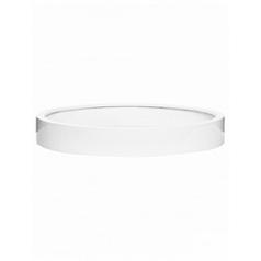 Кашпо Pottery Pots Fiberstone max low XXXL размер glossy white, белого цвета  Диаметр — 120 см
